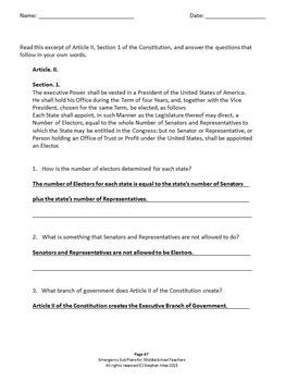 Emergency Sub Plans for Middle School Teachers: Grade 8