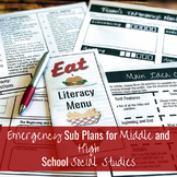 Emergency Substitute Plans for Middle and High School Social Studies