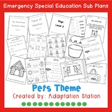 Emergency Sub Plans for Special Education Classrooms-Pets