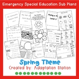 Emergency Sub Plans for Special Education Classrooms-Spring Theme