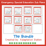 Emergency Sub Plans for Special Education Classrooms-The Bundle