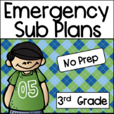 Emergency Sub Plans for Third Grade