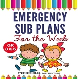 Emergency Sub Plans for the Week! Grades 3-5