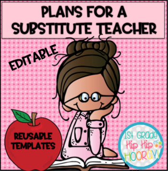 Substitute Teacher Plan Notebook...Editable