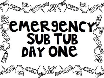 Emergency Sub Tub Labels