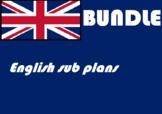 Emergency Sub plans English ELA