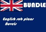 Emergency Sub plans novels English ELA
