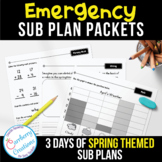 Emergency Sub Plans Packets Days 1-3 Spring Theme