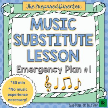 Music Sub Plan:  Emergency Plan #1 FREEBIE!