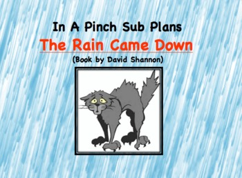 Emergency Substitute Lesson Plans- First Grade ( The Rain Came Down)