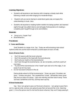 Emergency Substitute Packet for Music Class