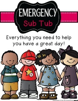 Emergency Substitute Plan Binder and Sub Tub