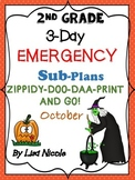 Emergency Substitute Plans 2nd Grade October (3-Days)