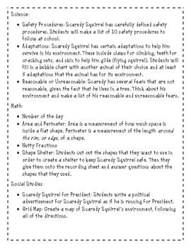 Emergency Substitute Plans for 2nd, 3rd, and 4th Grades - Scaredy Squirrel
