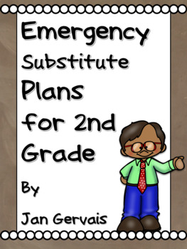 Emergency Substitute Plans for 2nd Grade