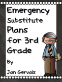 Emergency Substitute Plans for 3rd Grade