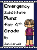 Emergency Substitute Plans for 4th Grade