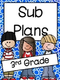 Emergency Substitute Plans for Third Grade