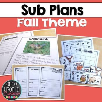 Sub Plans - Fall Theme