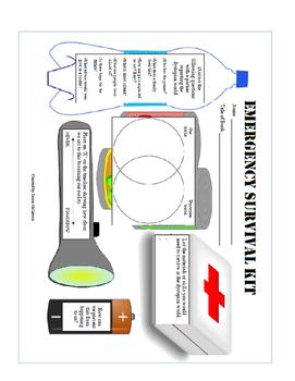 Emergency Survival Kit / Dystopian Literature Graphic Organizer