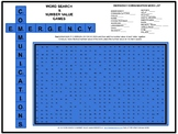 Emergency TILE LETTER CREATIONS Word Search