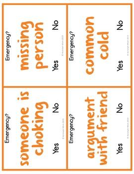 Emergency Task Cards with Digital Option