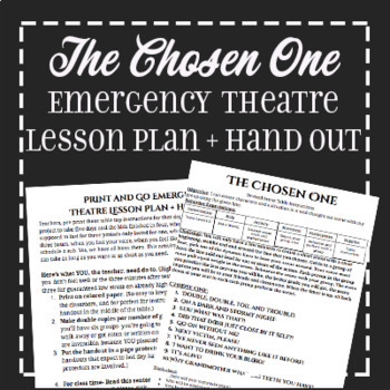 EMERGENCY SUB PLAN: Devised Theatre Horror Prompts