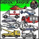 Emergency Transport Clip Art Set {Educlips Clipart}
