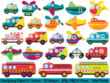 Emergency Transportation Clipart Clip Art