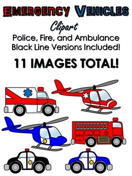 Emergency Vehicles Clip Art