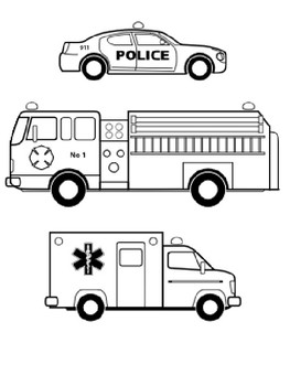 emergency vehicles coloring sheet by steven 39 s social studies tpt. Black Bedroom Furniture Sets. Home Design Ideas