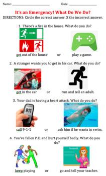 Emergency Worksheet