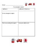 Emergency signals worksheet