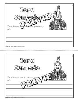 Emergency sub plans in Spanish for 1st grade (Native American theme)