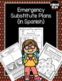 Emergency sub plans in Spanish for kindergarten (school theme)