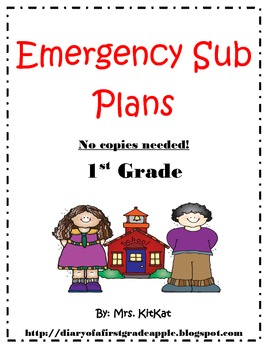 Emergency sub plans without making copies!