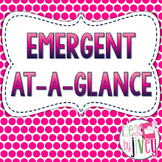 Emergent At-A-Glance (Mentor Sentences & Better Than Basal Reading/Writing)