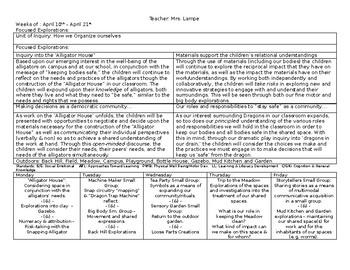 Emergent Curriculum Planning Document