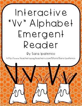 Emergent Easy Interactive Alphabet Reader Book: Letter Vv