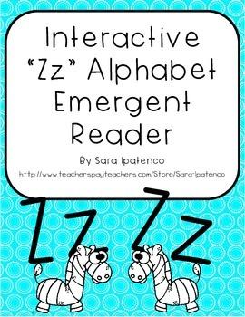 Emergent Easy Interactive Alphabet Reader Book: Letter Zz