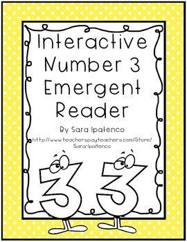 Emergent Easy Interactive Number Book: Number 3