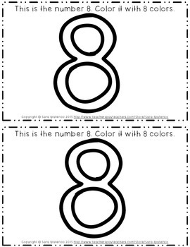 Emergent Easy Interactive Number Book: Number 8
