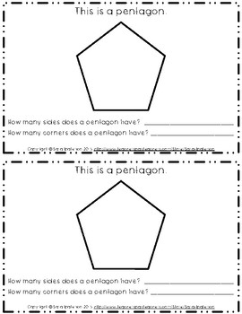 Emergent Easy Interactive Reader Book: Shapes: Pentagon