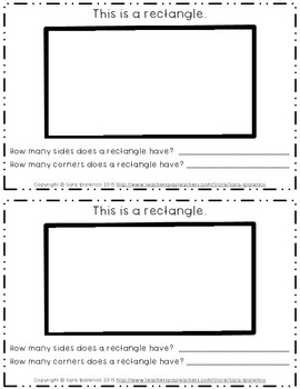 Emergent Easy Interactive Reader Book: Shapes: Rectangle