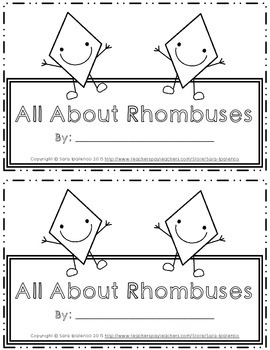 Emergent Easy Interactive Reader Book: Shapes: Rhombus