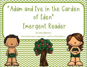"""Emergent Easy Reader Book: """"Adam and Eve in the Garden of Eden"""""""