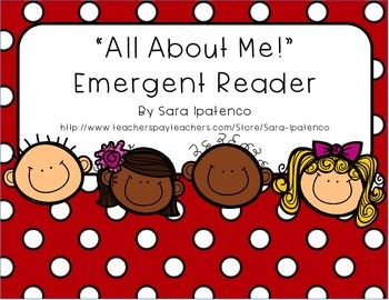 "Emergent Easy Reader Back to School Book: ""All About Me"""