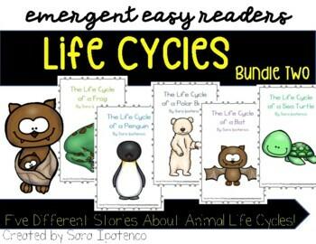 Emergent Easy Reader Book Bundle: Life Cycle Theme: SET 2
