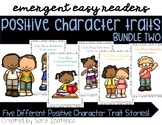 Emergent Easy Reader Book Bundle: Positive Character Traits SET TWO