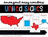 Emergent Easy Reader Book Bundle: United States - ALL 50 STATES!!